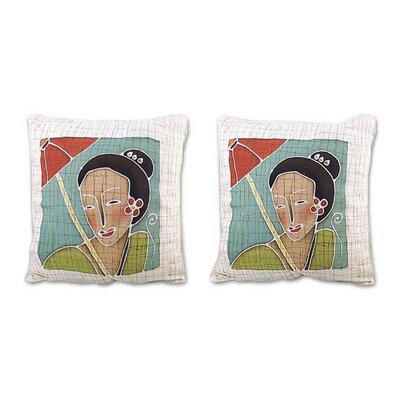 Eastern Women Cotton Pillow Cover