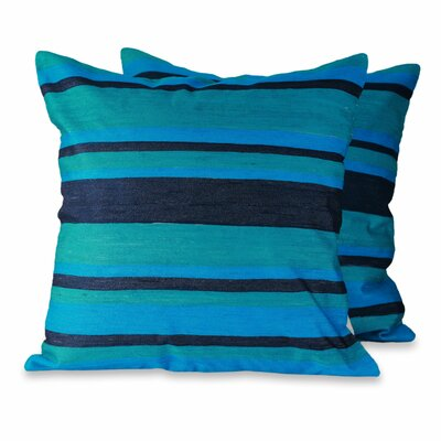 Streams Artisan Crafted with Embroidery Pillow Cover