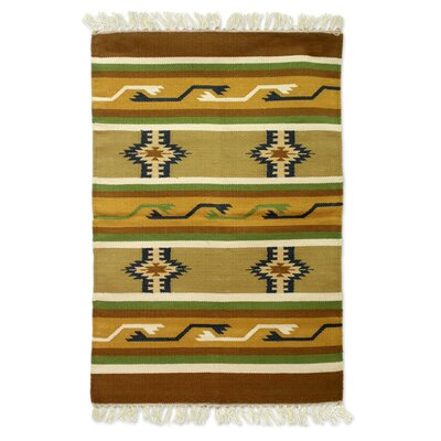 Hand Woven Brown/Tan Area Rug