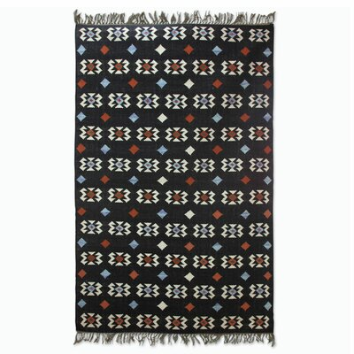 Hand Woven Black Area Rug