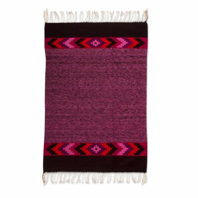 Weare Hand-Woven Purple Area Rug