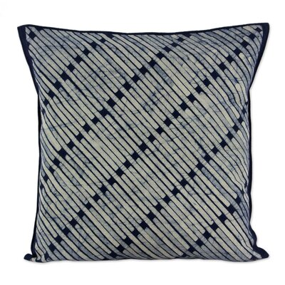 Bamboo Lattice Batik Cotton Pillow Cover