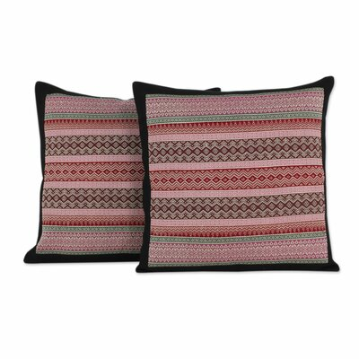 Enchanted Thai Orchids Handwoven Cotton Pillow Cover