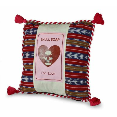 Skull Soap Handcrafted Modern Cotton Pillow Cover