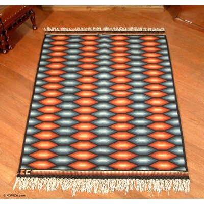 Hand Woven Sun Gray/Orange Area Rug