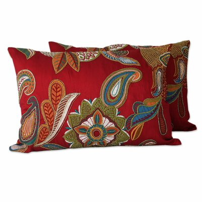 Beauty Handmade Applique with Machine Embroidery Pillow Cover