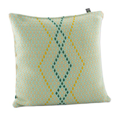 Diamond Honeycomb Embroidered Cotton Pillow Cover