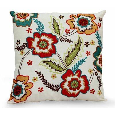 Floral Celebration Handmade Floral Applique Pillow Cover