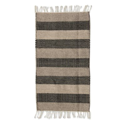 Zapotec Hand Woven Brown Area Rug