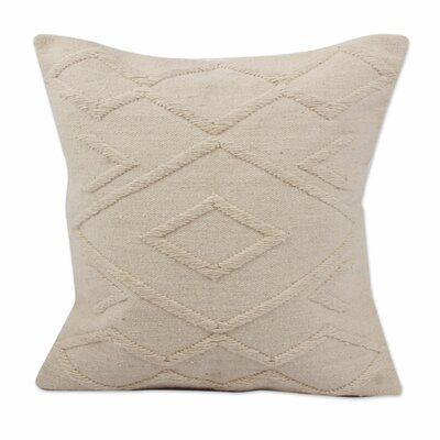 Diamonds in Peru Hand-Woven Wool Pillow Cover
