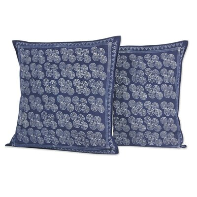 Double Spiral Fair Trade Batik Cotton Pillow Cover