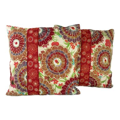 Floral Explosion Beaded Pillow Cover
