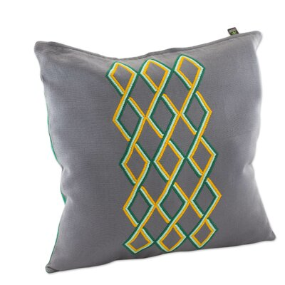 Diamond Waterfall Embroidered Cotton Pillow Cover