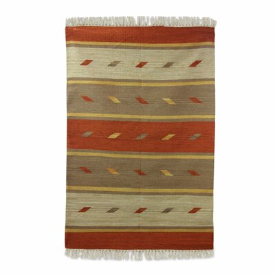 Hand Woven Gold/Brown Area Rug