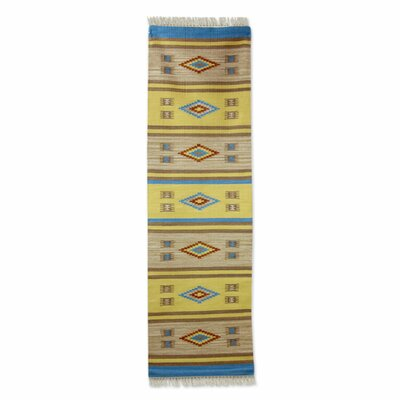 Sunny Hand Woven Yellow/Brown Area Rug