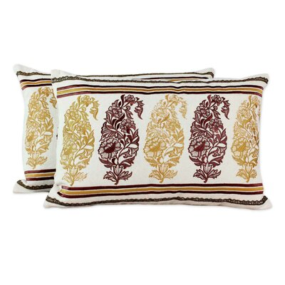 Floral Paisley Embroidery Cotton Pillow Cover