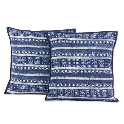 Hmong Charm Striped Hill Tribe Batik Cotton Pillow Cover