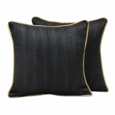 Elegant Pillow Cover Color: Black