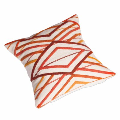 Diamond Sunset Diamond Motif Wool Pillow Cover
