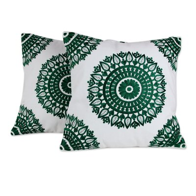 Delight Embroidered Cotton Pillow Cover