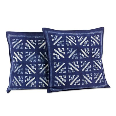 Hmong Starbursts Hill Tribe Artisan Crafted Batik Cotton Pillow Cover