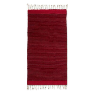 Weare Hand Woven Fire Volcano Area Rug