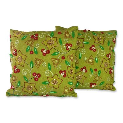 Floral Meadow Pillow Cover