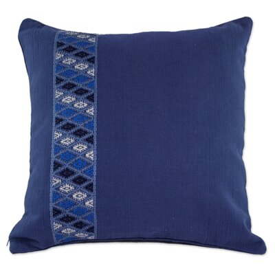 Tecpan Diamonds Handwoven Cotton Pillow Cover