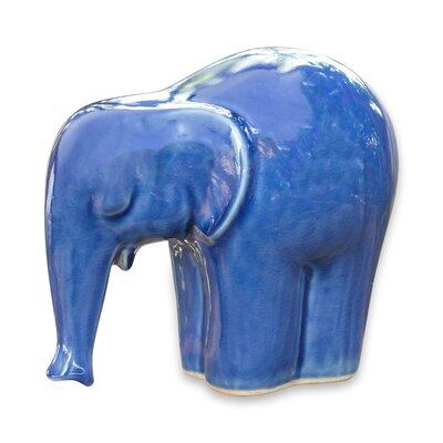 Elephant Celadon Ceramic Elephant Figurine 151205