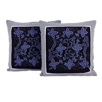 Cheesewood Artisan Crafted Floral Cotton Pillow Cover