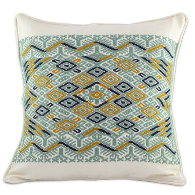 Ceiba Tree Maya Backstrap Woven Cotton Pillow Cover
