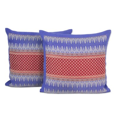 Chiang Rai Sky Brocade Cotton Pillow Cover