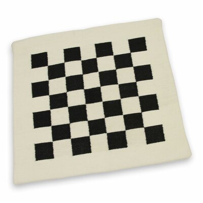 Chessboard Handwoven Wool Pillow Cover