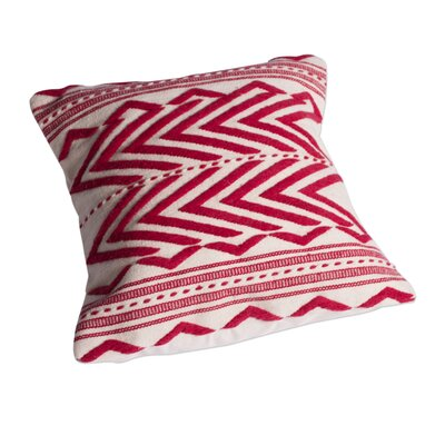 Energy Handwoven Geometric Wool Pillow Cover