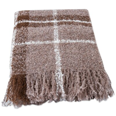 Plaid Boucle Andean Handwoven Throw