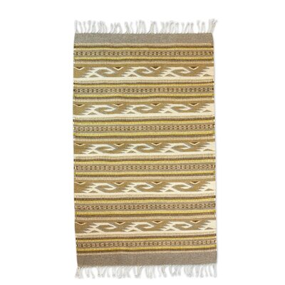 Zapotec Gray/Yellow Area Rug