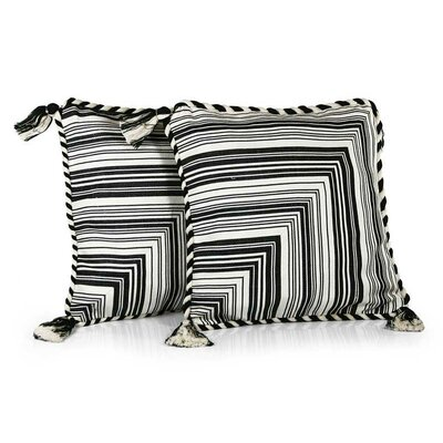 Maya Zebra Patterned Cotton Pillow Cover