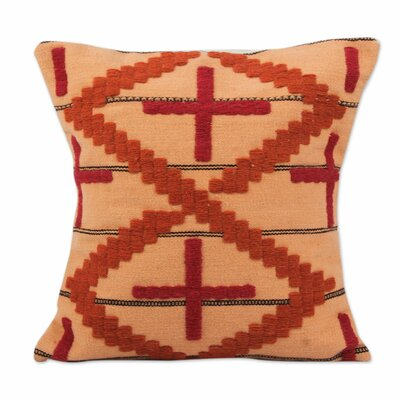 Las Cruces Handwoven Geometric Motif Pillow Cover