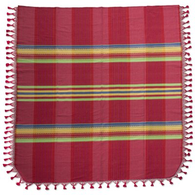 Zapotec Monsoon Hand-Woven Cotton Twin Bedspread