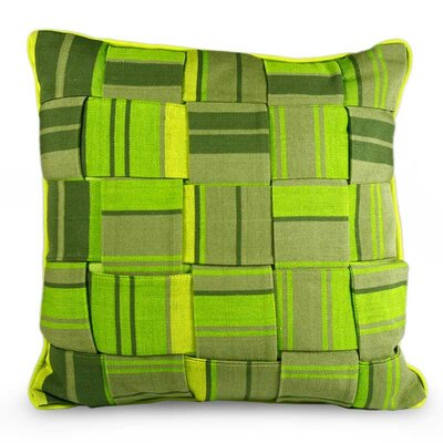Weave Modern Striped Cotton Pillow Cover