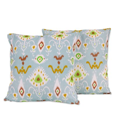 Morning Dewdrops Artisan Crafted Square Cotton Pillow Cover