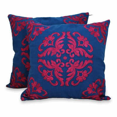 Kaleidoscope Embroidered Cotton Pillow Cover