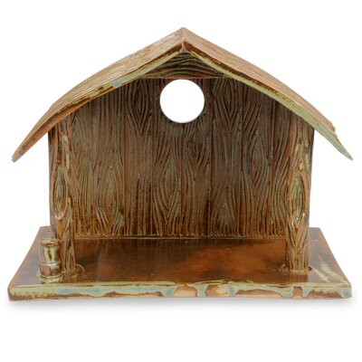 Decorative Nativity Cottage Ceramic Cottage for Nativity Scene
