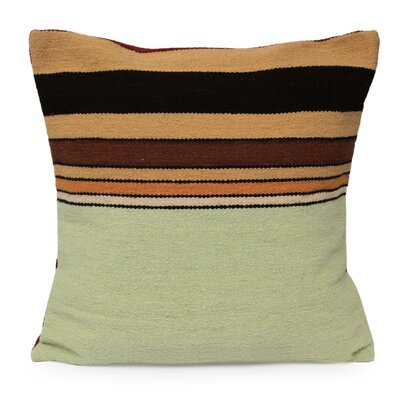 Parallel Contrasts Geometric Striped Wool Pillow Cover