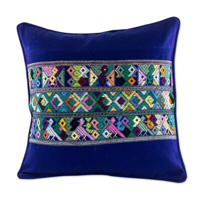 Quiche Birds Maya Backstrap Woven Cotton Pillow Cover