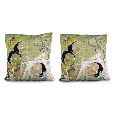 Lanna Ladies' Charm Artisan Crafted Cotton Pillow Cover