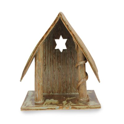 Decorative Nativity Cottage II Hand Crafted Ceramic Cottage for Nativity Scene
