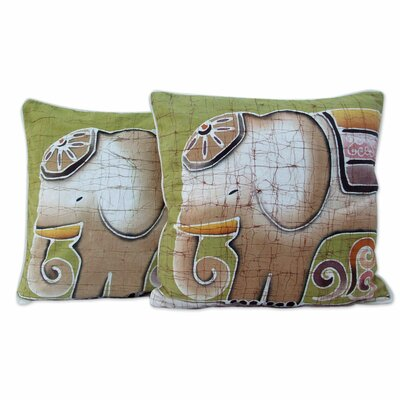 Pachyderm Personality Batik Cotton Pillow Cover