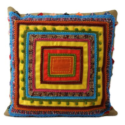 Hues Artisan Crafted Cotton Pillow Cover