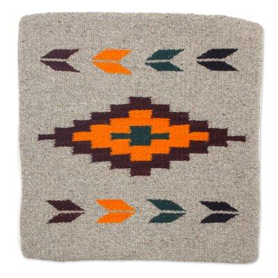 Oaxaca Sun Geometric Motif Handwoven Zapotec Wool Pillow Cover